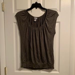 Army green sequenced top